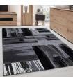 Modern Tasarımlı Halı Fırça boyama efekti Siyah Gri Beyaz