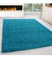 Shaggy Halı 30 mm uzun ve yüksek tüylü Düz Mavi renkli