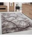 Modern desenli Halı 3 Boyutlu çatlamış toprak tasarımı Kahverengi Bej Krem