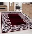 Modern desenli Halı Geometrik versace optik Bordür Siyah Kırmızı Beyaz