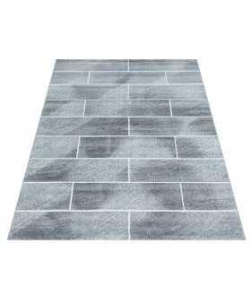 Modern desenli Halı taş duvar tasarım bulanık tonlarda Gri Beyaz