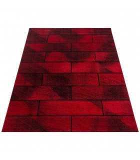 Modern desenli Halı taş duvar tasarım bulanık tonlarda Kırmızı Siyah