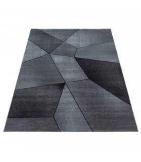 Modern desenli Halı Geometrik tasarım bulanık tonlarda Siyah Gri