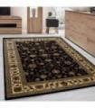 Klasik desenli Halı İran tarzı Barok süslemeler Siyah Gold Bej Renkler