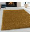 Shaggy Halı Salon halısı yumuşak yüksek havlı düz Altın Gold Dore