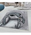 Çocuk Bebek odası Halısı Tavşan Bunny temalı Pembe Gri tonlarda