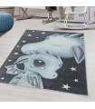 Çocuk Bebek odası Halısı yumuşak bebek Ejderha Dinazor desenli Mavi Gri