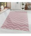 Modern Halı yumuşak su dalga Zigzag desenli pastel Rose Pembe Beyaz tonlarda