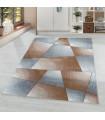 Modern Halı yumuşak Abstrak Geometrik desenli pastel Bakır Gri tonlarda