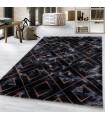 Modern karma abstrak kare üçgen Mermer desenli Halı Bronz Bakır Siyah Gri