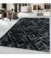 Modern karma abstrak kare üçgen Mermer desenli Halı Gümüş Siyah Gri