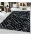 Modern karma abstrak kareler Mermer desenli Halı Siyah Gri Gümüş