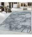 Modern karma abstrak çizgili Mermer desenli Halı Gri Gümüş Siyah Beyaz